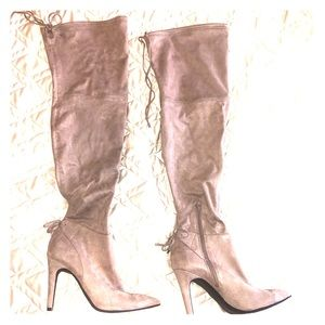 Guess over the knee pointed toe stiletto boots